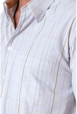 Camisa-casual-masculina-tradicional-algodao-fio-50-marrom-f01506a-detalhe1
