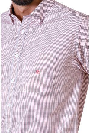 Camisa-casual-masculina-tradicional-algodao-fio-60-vermelho-f01453a-detalhe1