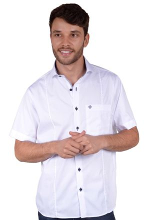 Camisa-casual-masculina-tradicional-algodao-fio-60-branco-f01145a-frente