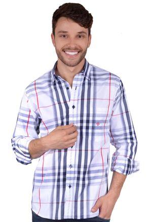 Camisa-casual-masculina-tradicional-algodao-fio-50-azul-escuro-f01740a-frente