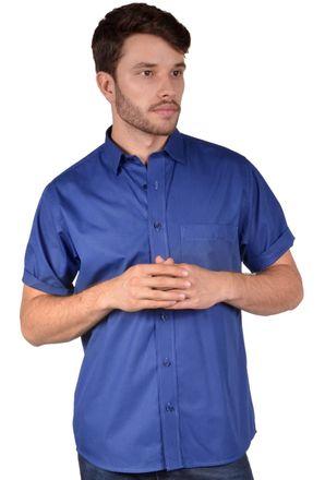 Camisa-casual-masculina-tradicional-algodao-fio-40-azul-escuro-r09903a-frente