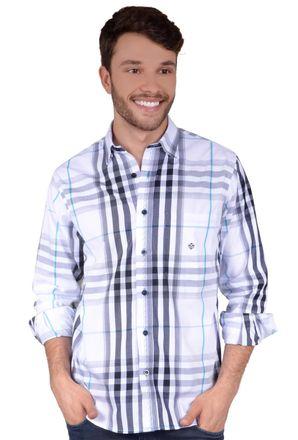 Camisa-casual-masculina-tradicional-algodao-fio-50-branco-f01739a-frente
