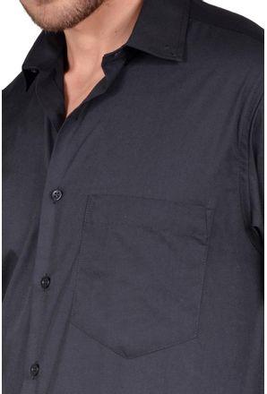 Camisa-casual-masculina-tradicional-algodao-misto-preto-r09993a-detalhe1