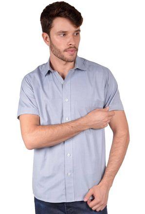 Camisa-casual-masculina-tradicional-algodao-fil-a-fil-grafite-r07060a-frente