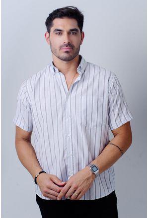 Camisa-casual-masculina-tradicional-algodao-misto-marrom-f07034a-frente