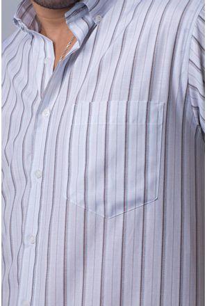 Camisa-casual-masculina-tradicional-algodao-misto-marrom-f07034a-detalhe1