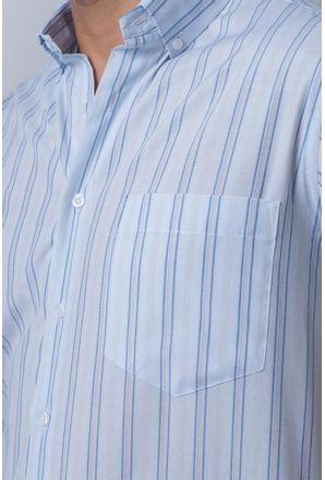 Camisa-casual-masculina-tradicional-algodao-misto-azul-medio-f07034a-detalhe1
