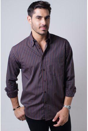 Camisa-casual-masculina-tradicional-algodi¿½o-fio-50-azul-escuro-f01315a-frente