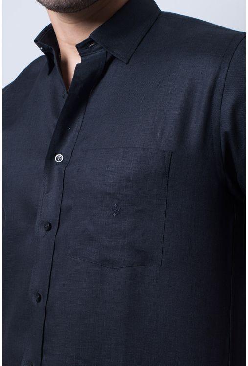 Camisa-casual-masculina-tradicional-linho-preto-f03943a-detalhe1