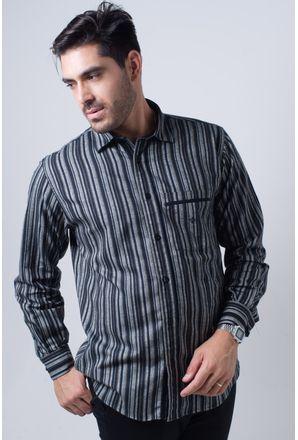 Camisa-casual-masculina-tradicional-flanela-preto-f01206a-frente