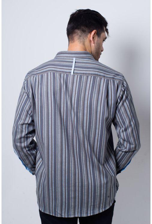 Camisa-casual-masculina-tradicional-flanela-cinza-f01067a-frente
