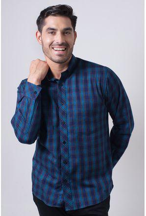Camisa-casual-masculina-tradicional-flanela-azul-f01842a-frente