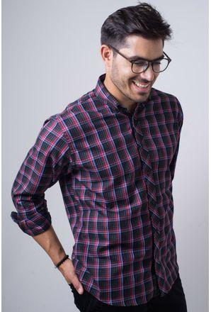 Camisa-casual-masculina-tradicional-flanela-vermelho-f01833a-frente