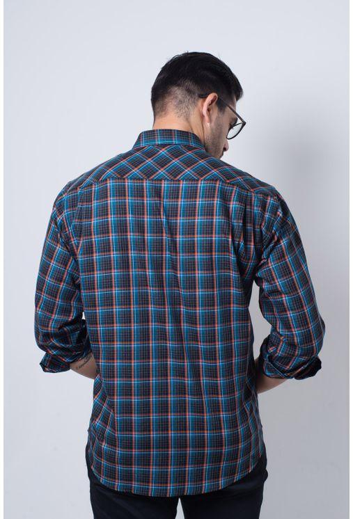 Camisa-casual-masculina-tradicional-flanela-laranja-f01833a-verso