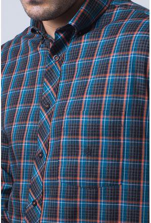 Camisa-casual-masculina-tradicional-flanela-laranja-f01833a-detalhe1