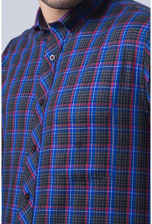 Camisa-casual-masculina-tradicional-flanela-azul-f01833a-frente