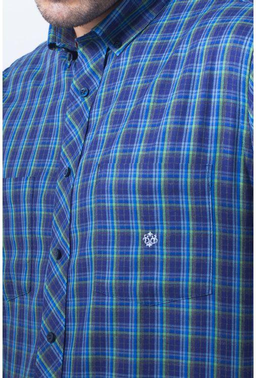 Camisa-casual-masculina-tradicional-flanela-grafite-f01842a-frente