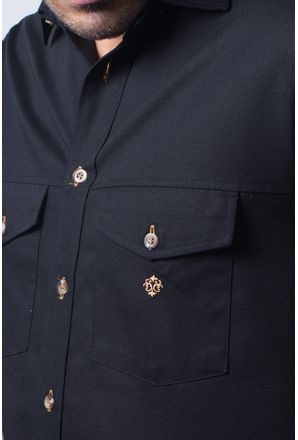 Camisa-casual-masculina-tradicional-sarjada-preto-f01678a-detalhe1
