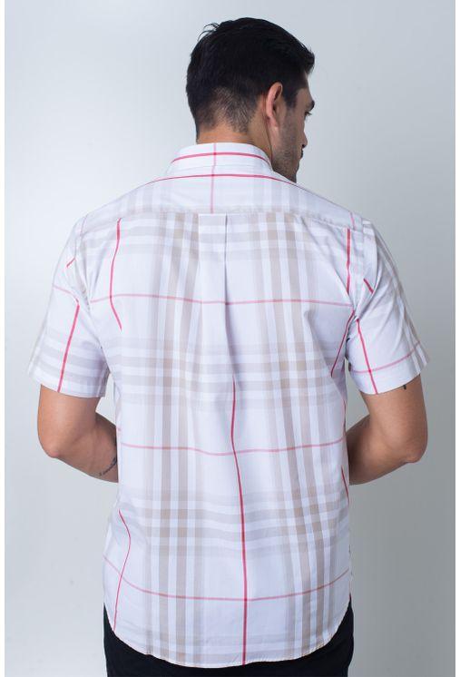 Camisa-casual-masculina-tradicional-algodi¿½o-fio-50-bege-f04371a-frente