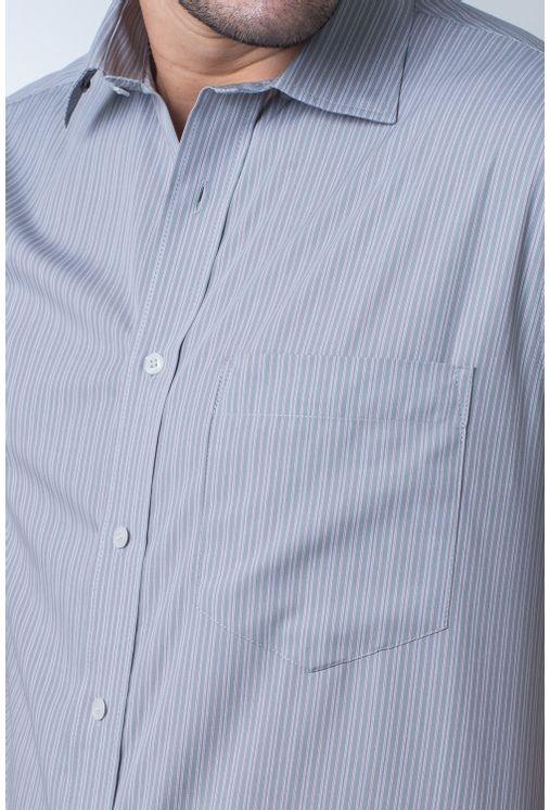 Camisa-casual-masculina-tradicional-algodi¿½o-fio-50-cinza-f05196a-frente