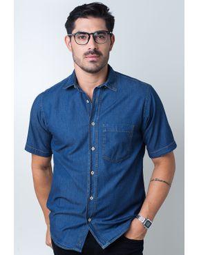 6c1d47205d Camisaria Fascynios Oficial · Camisa Casual Masculina · Jeans. Camisa  casual masculina tradicional jeans azul escuro f18845a 09 ...