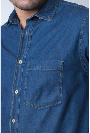 Camisa-casual-masculina-tradicional-jeans-azul-escuro-f18845a-detalhe1