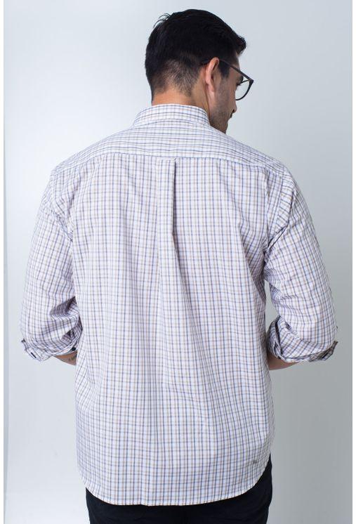 Camisa-casual-masculina-tradicional-algodi¿½o-fio-50-roxo-f01410a-verso