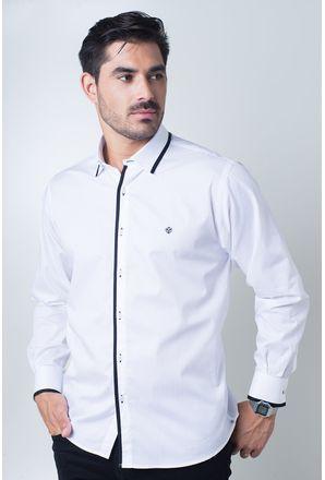 Camisa-casual-masculina-tradicional-algodi¿½o-fio-60-azul-escuro-f01496a-frente