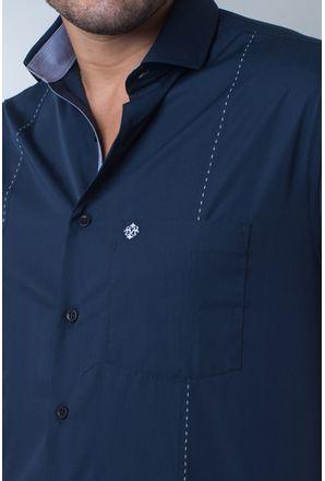 Camisa-casual-masculina-tradicional-algodi¿½o-fio-60-azul-escuro-f01145a-detalhe1