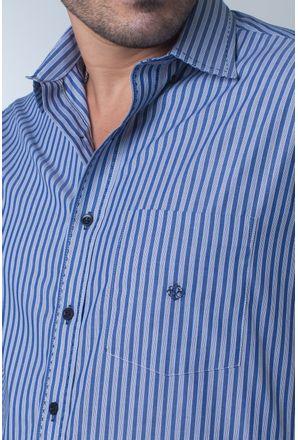 Camisa-casual-masculina-tradicional-algodi¿½o-fio-50-azul-f01377a-detalhe1