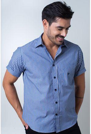 Camisa-casual-masculina-tradicional-algodi¿½o-fio-50-azul-f01377a-frente
