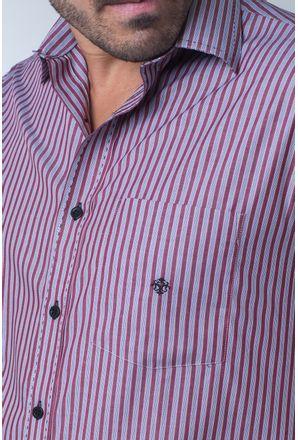 Camisa-casual-masculina-tradicional-algodi¿½o-fio-50-vermelho-f01377a-detalhe1