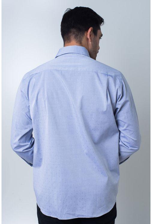 Camisa-casual-masculina-tradicional-algodi¿½o-fio-60-azul-f01039a-frente
