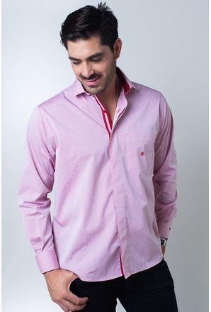 Camisa-casual-masculina-tradicional-algodi¿½o-fio-60-vermelho-f01039a-frente