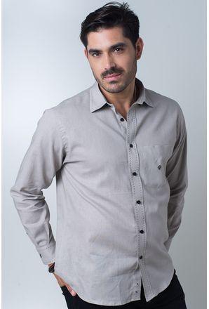 Camisa-casual-masculina-tradicional-linho-misto-bege-f01295a-frente