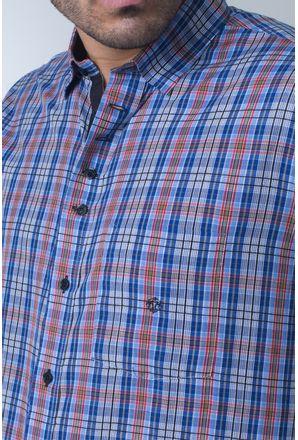 Camisa-casual-masculina-tradicional-algodi¿½o-fio-40-azul-f01465a-detalhe1