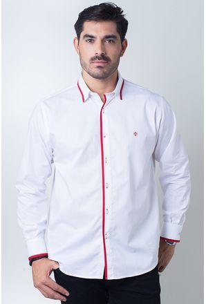 Camisa-casual-masculina-tradicional-algodi¿½o-fio-60-vermelho-f01496a-frente