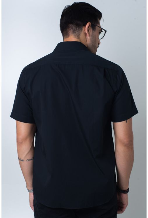 Camisa-casual-masculina-tradicional-algodi¿½o-fio-60-preto-f01145a-verso