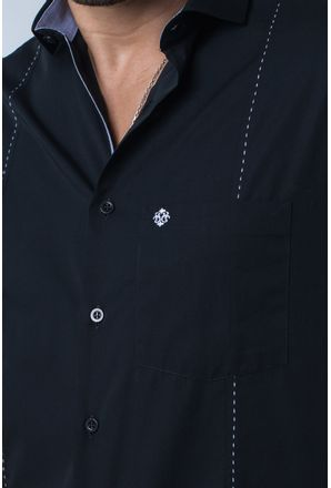 Camisa-casual-masculina-tradicional-algodi¿½o-fio-60-preto-f01145a-detalhe1