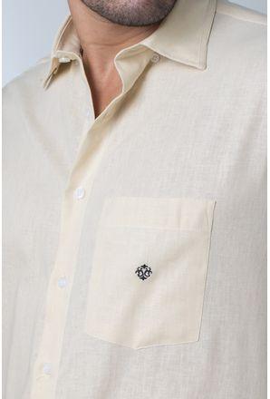 Camisa-casual-masculina-tradicional-linho-misto-amarelo-f01299a-detalhe1