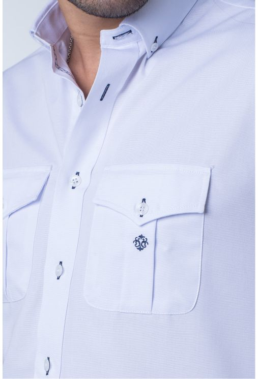 Camisa-casual-masculina-tradicional-sarjada-branco-f01700a-detalhe1