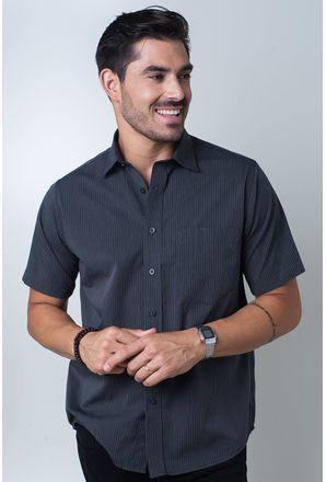 Camisa-casual-masculina-tradicional-algodi¿½o-fio-50-grafite-f05197a-frente