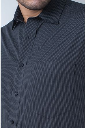 Camisa-casual-masculina-tradicional-algodi¿½o-fio-50-grafite-f05197a-detalhe1