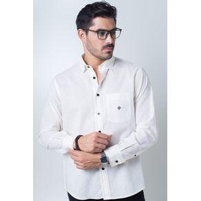 Camisa-casual-masculina-tradicional-linho-misto-creme-f01295a-frente