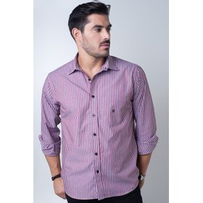 Camisa-casual-masculina-tradicional-algodi¿½o-fio-50-vermelho-f01397a-frente