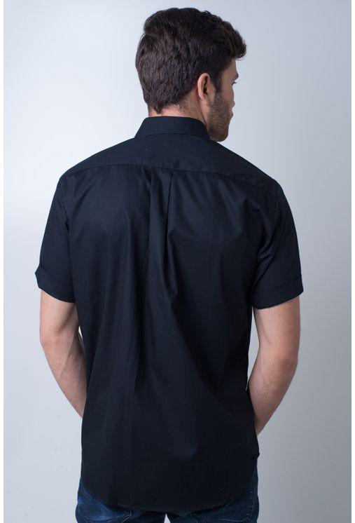 Camisa-basica-masculina-tradicional-algodao-fio-40-preto-f09903a-frente
