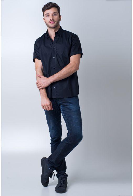 Camisa-basica-masculina-tradicional-algodao-fio-40-preto-f09903a-detalhe2