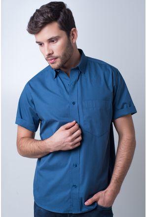 Camisa-basica-masculina-tradicional-algodao-fio-40-azul-medio-r09903a-frente