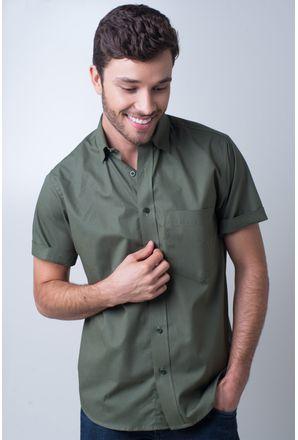 Camisa-basica-masculina-tradicional-algodao-fio-40-verde-escuro-r09903a-frente