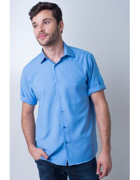 Camisaria Fascynios Oficial · Camisa Casual Masculina · Microfibra. Camisa  casual masculina tradicional microfibra azul médio f06208a 01 ... 1139cd3b1663c